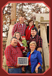 Family picture at Amazin' Acres of Fun!